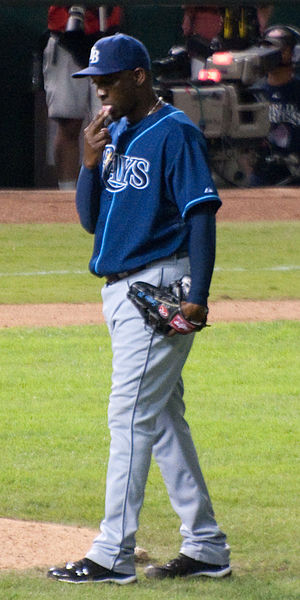 Rafael Soriano - Soriano during his tenure with the Rays in 2010