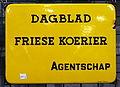Dagblad Friese koerier Agentschap, emaille reklame bord.JPG