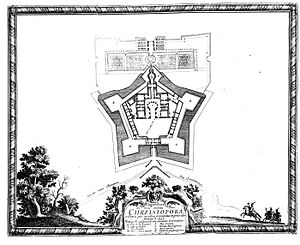 Mannerist architecture and sculpture in Poland - Plan of fortified Krzyżtopór Palace, built by Wawrzyniec Senes (1621–1644), Polish-style mannerism, Ujazd