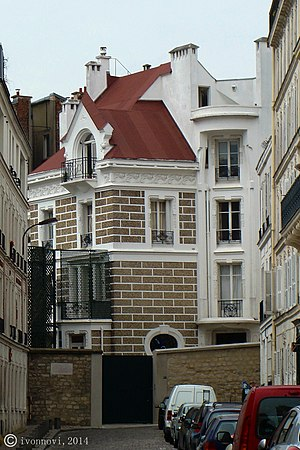 Dalida - Dalida's house at rue d'Orchampt, Montmartre, Paris