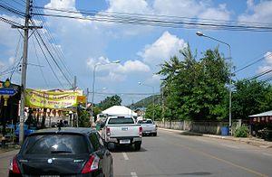 Dan Makham Tia District - Dan Makham Tia main street.
