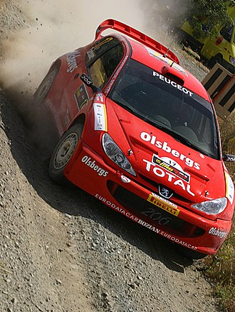 Peugeot 206 WRC - Image: Daniel Carlsson 2005 Cyprus Rally 2