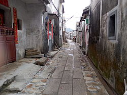 An alley within Dapeng Fortress, Dapeng New District, Shenzhen