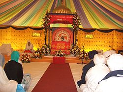 A view inside a typical Darbar hall.