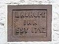 Date stone at the Ladhope Inn - geograph.org.uk - 823480.jpg