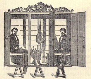 Davenport brothers - Davenport brothers cabinet.