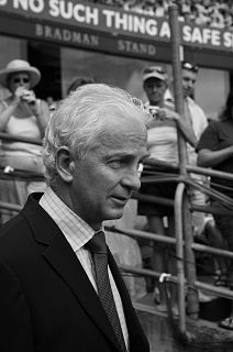 David Gower Cricket player of England.