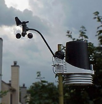 Weather station - Roof-mounted weather station instruments