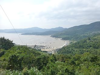 Wenzhou - On the coast of the Dayu Bay in Cangnan County