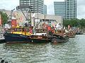 De HAVENDIENST 2, DELTA en WOUW in de Leuvehaven in Rotterdam.JPG