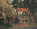De ontvangst van Charles II en zijn broers in de Schuttershof.jpg