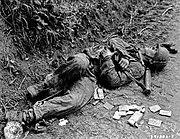 Zabitý příslušník Waffen SS