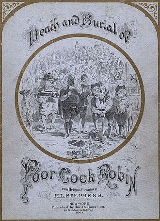 Cock Robin - Image: Death and Burial of Poor Cock Robin Project Gutenberg e Text 17060