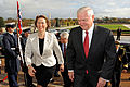 Defense.gov News Photo 101027-D-9880W-011 - Secretary of Defense Robert M. Gates escorts Norwegian Defense Minister Grete Faremo through an honor cordon and into the Pentagon on Oct. 27.jpg