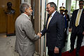 Defense.gov News Photo 120424-N-TT977-165 - Secretary of Defense Leon E. Panetta greets Brazilian Minister of Defense Celso Amorim in Brasilia Brazil April 24 2012. Panetta is on a five-day.jpg