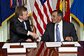 Defense.gov News Photo 120619-D-TT977-055 - Secretary of Defense Leon E. Panetta right and New Zealand s Minister of Defense Jonathan Coleman shake hands after signing a Memorandum of.jpg