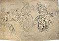 Dehodencq A. - Pencil - Feuille d'études de personnages 29x19cm.jpg