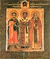 Demetrius, John Chrysostom and Martyrius of Zelenets.jpg