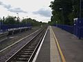 Denham station eastbound platform look west3.JPG