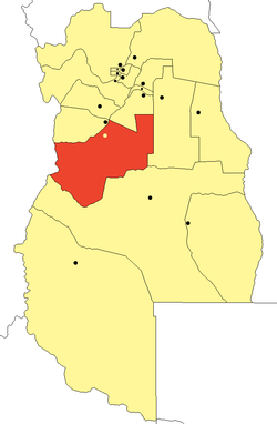 location of San Carlos Department in Mendoza Province