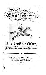 Des Knaben Wunderhorn Band 1