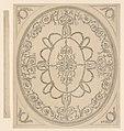 Design for a Ceiling, an Oval within a Square, having a Criss-cross Border to the Oval, for Ampthill Park, Bedfordshire MET DP244878.jpg