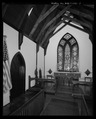 Detail of altar-aspe from northwest. - St. Andrew's Chapel, 104 Maple Avenue, Sudlersville, Queen Anne's County, MD HABS MD-1391-7.tif