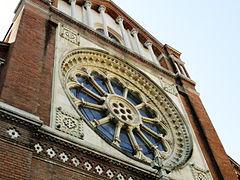 Detaliu rozeta neo-gotica