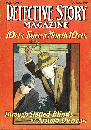 Detective Story Magazine - Debut issue of Detective Story Magazine (October 5, 1915)