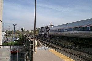 Transportation in metropolitan Detroit - Amtrak's Wolverine at Detroit in 2000