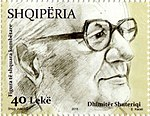 Dhimitër Shuteriqi 2015 stamp of Albania.jpg