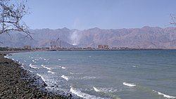 Dibba Al-Hisn skyline seen from the beach