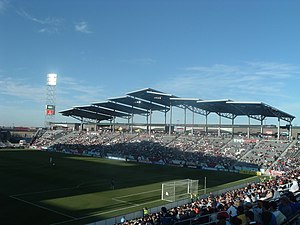 Commerce City, Colorado - Dick's Sporting Goods Park in Commerce City, home of the Colorado Rapids Major League Soccer franchise.