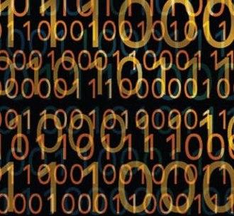 Digital content - Binary code represents text or computer processor instructions that create digital content.