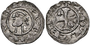 Alfonso the Battler - A denarius minted by Alfonso in Toledo while he ruled Castile