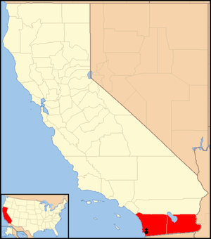 Roman Catholic Diocese of San Diego - Image: Diocese of San Diego map 1