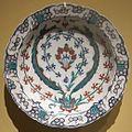 Dish from Iznik, Turkey, c. 1570-1575, glazed stone-paste, underglaze-painted, HAA.JPG