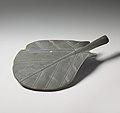Dish in the shape of a leaf MET DP250956.jpg