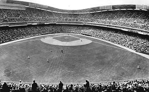 Robert F. Kennedy Memorial Stadium - D.C. Stadium in 1963, looking west