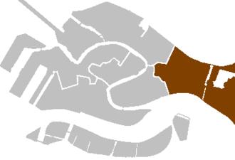 San Pietro di Castello (island) - Image: Districts venice castello