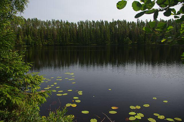 Djupasjön i Gislaveds kommun i Småland, Sverige.
