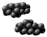 Spacefill model of 3-methylheptane (R and S)