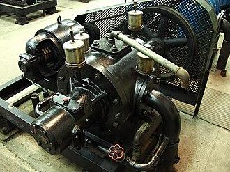 Prague pneumatic post - Original bladed air pump from the 1930s