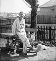 Dog, cat, nightgown Fortepan 11715.jpg