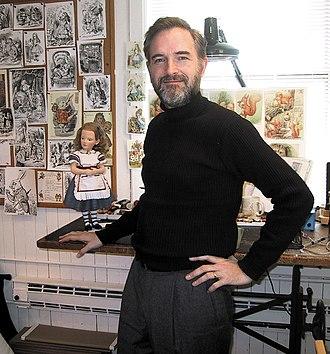 R. John Wright Dolls - R. John Wright in his home studio in Cambridge, NY, 2005.
