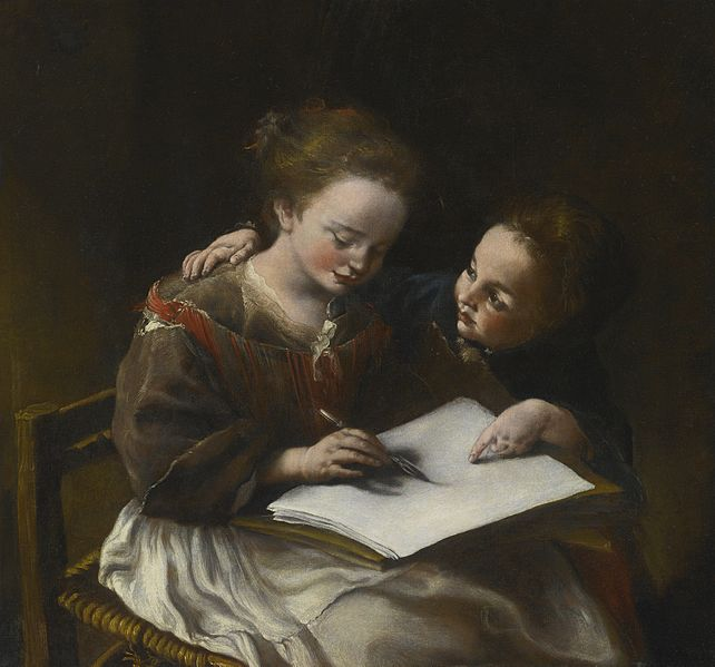 File:Domenico Guidobono - The drawing lesson.jpg