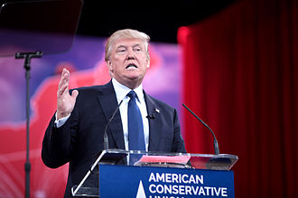 Political positions of Donald Trump - Trump speaking at the Conservative Political Action Conference (CPAC) in 2015.