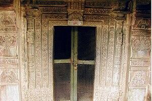 Kasivisvesvara Temple, Lakkundi - Doorjamb and lintel mouldings on shrine door of Kasivisvesvara temple