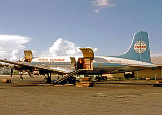 Avianca Cargo - Douglas DC-6A freighter of Tampa at Miami International Airport in 1975