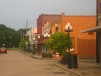 National Register of Historic Places listings in Concordia Parish, Louisiana - Image: Downtown Ferriday, LA IMG 1186